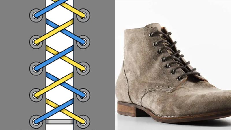 Cách buộc dây giày boot đẹp, đơn giản, nâng tầm phong cách   Ảnh 2