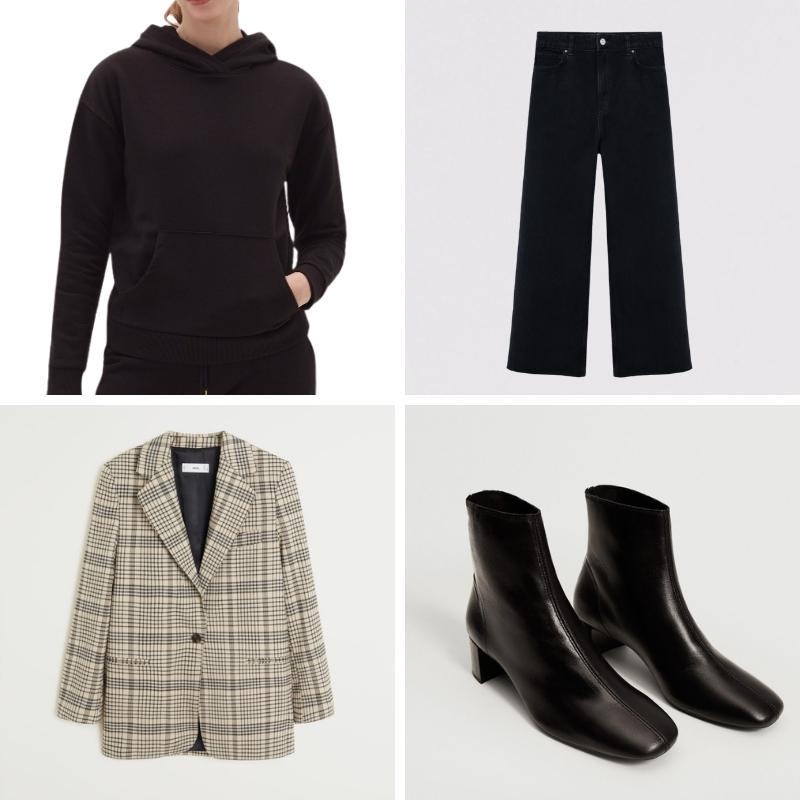 Phối đồ với áo hoodie và blazer
